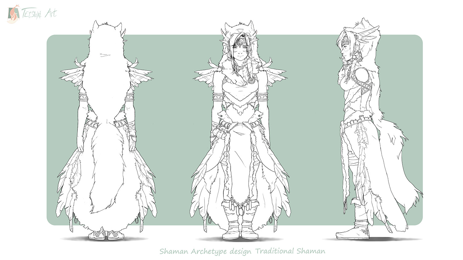 Line Art of the character design