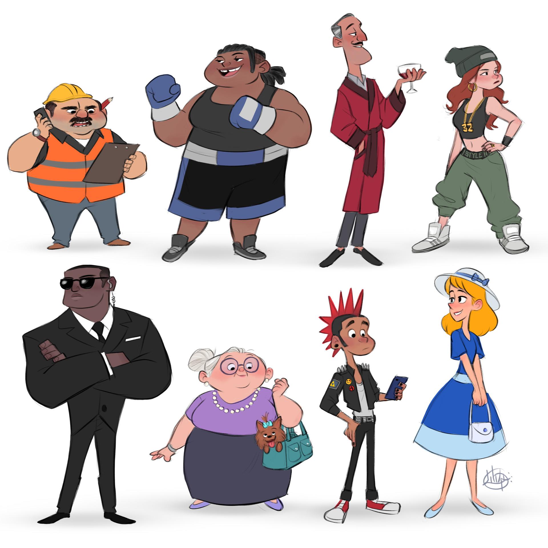 Luigi lucarelli random characters