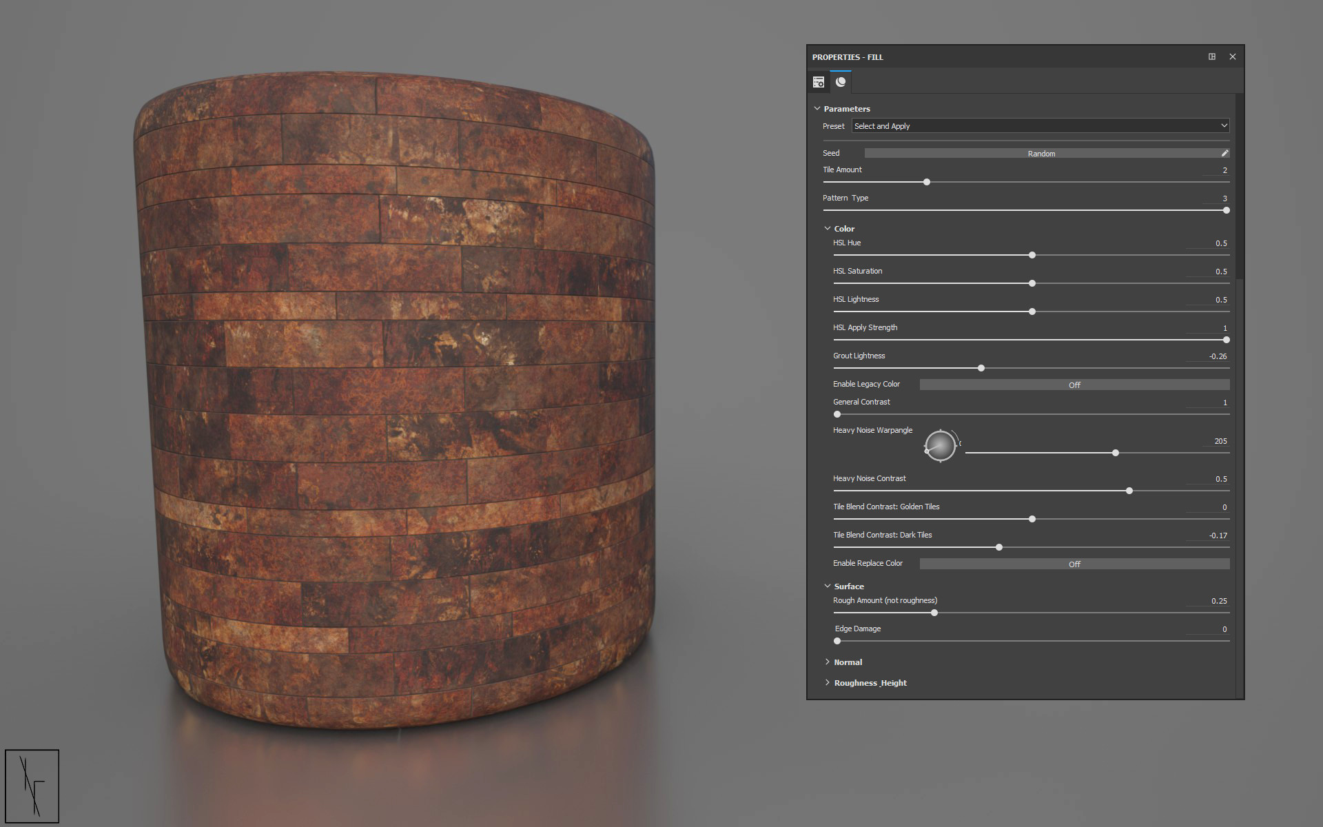 Niels fechtel bronze bathroom tiles rendercylinder v1