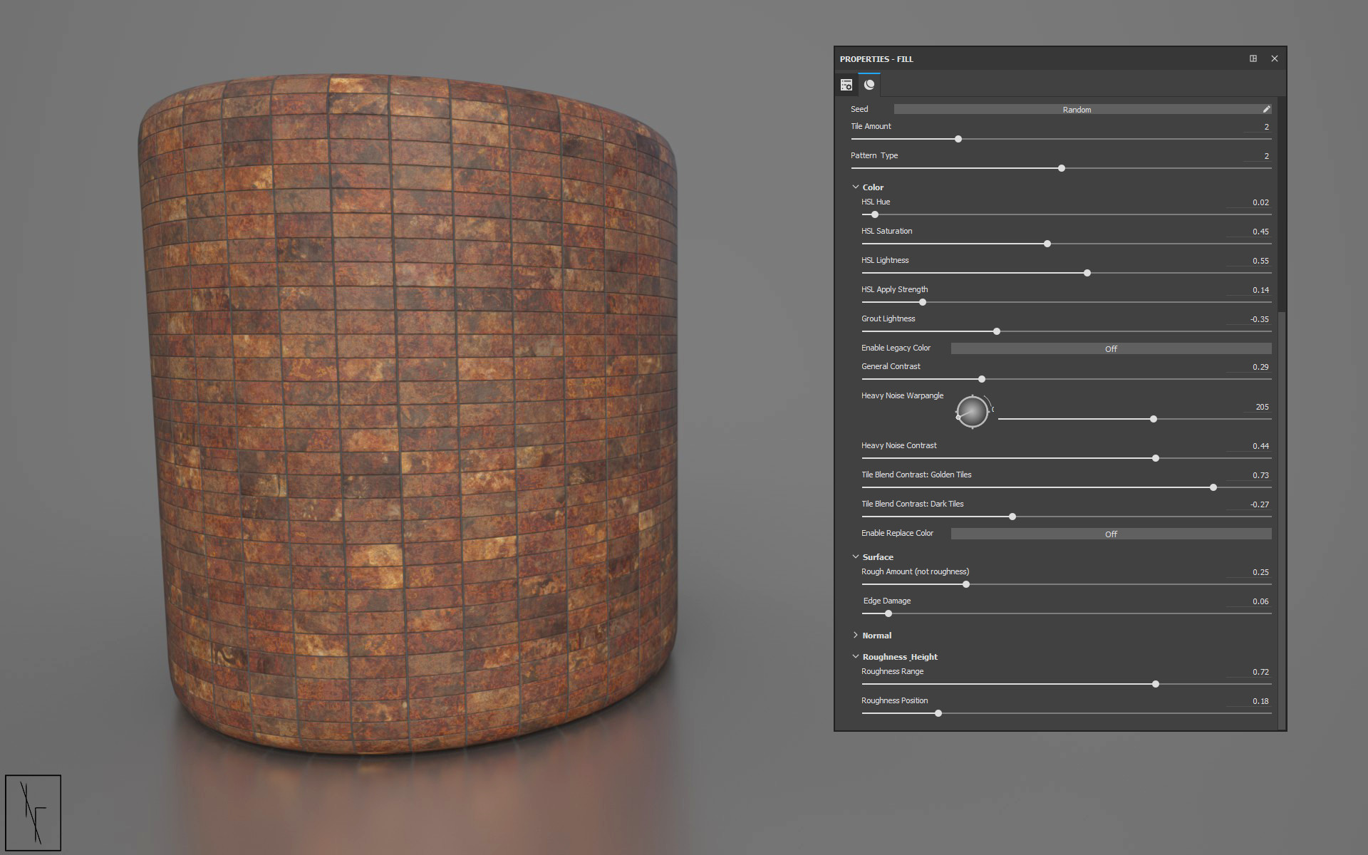 Niels fechtel bronze bathroom tiles rendercylinder v2