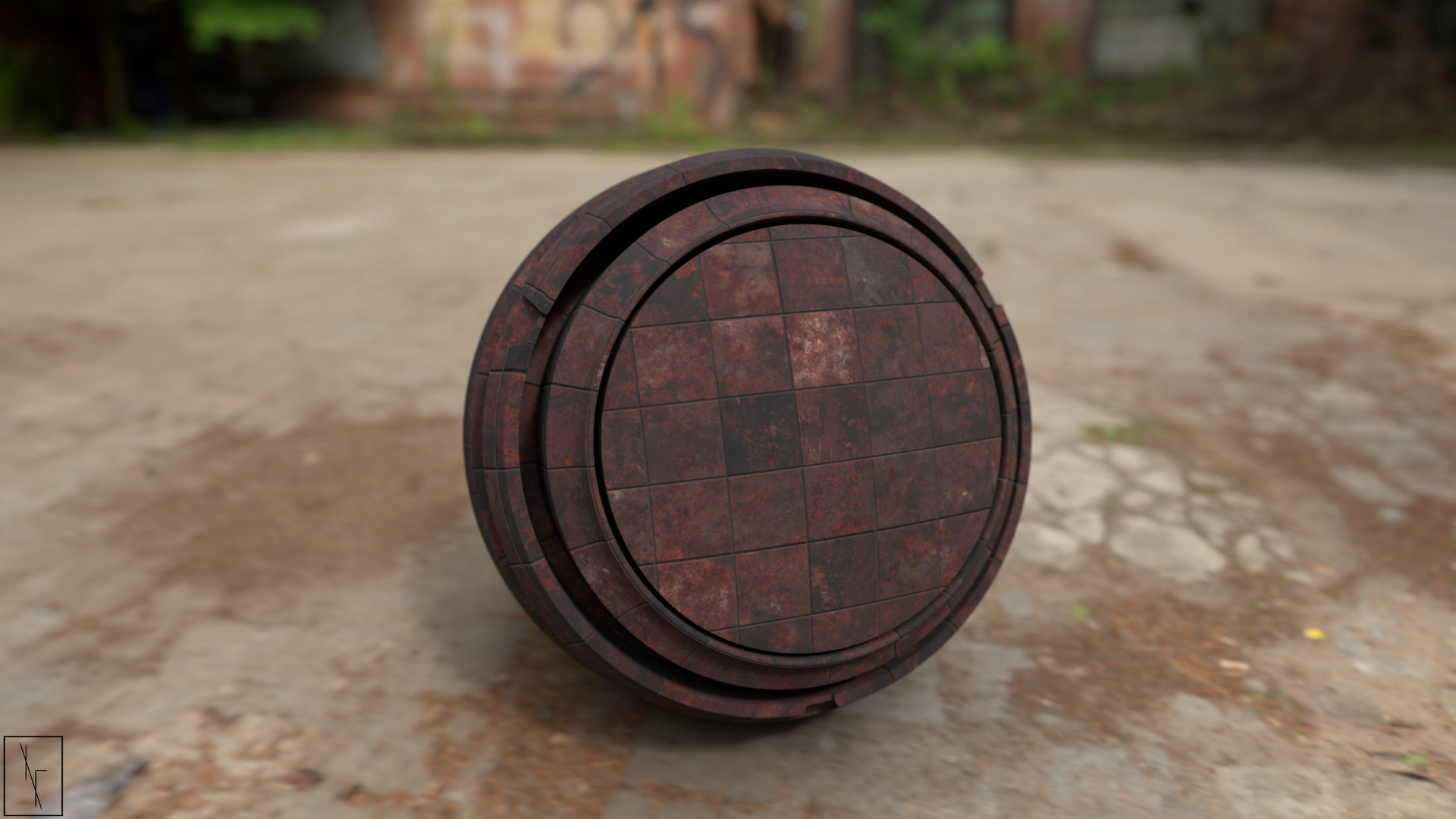 Niels fechtel bronze bathroom tiles rendermatsphere v1