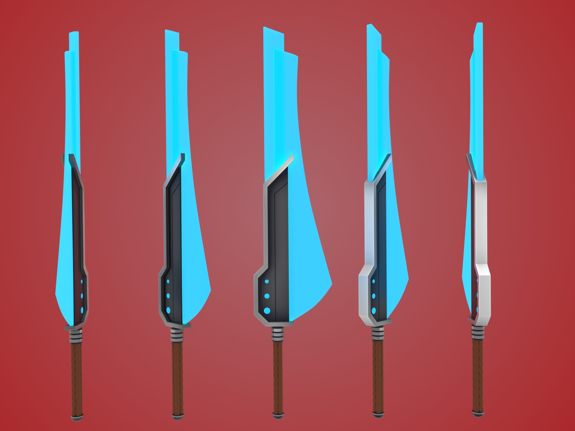 ArtStation - Stylized Futuristic Longsword, Jacques Fourie