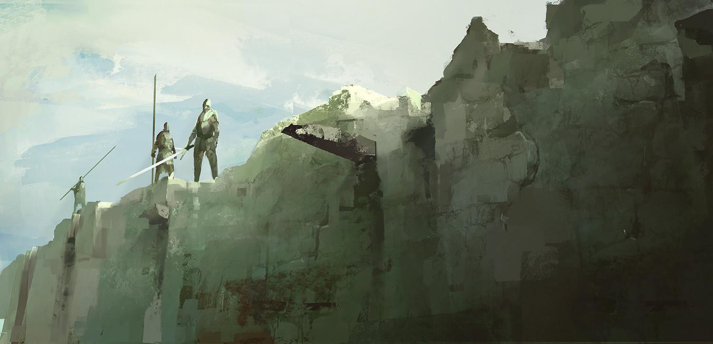Crumbled walls