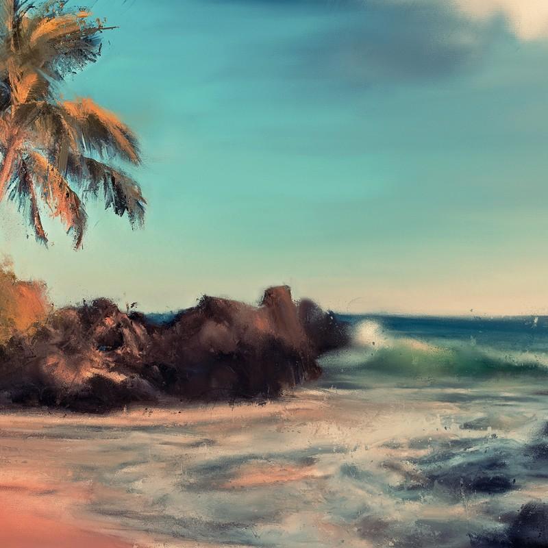 On A Beach In Hawaii