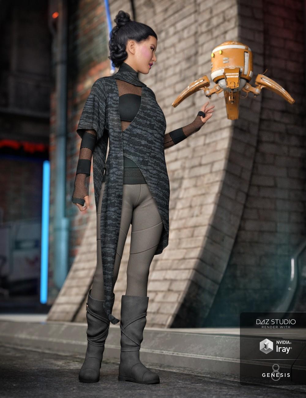 ArtStation - dForce Dystopian Future Outfit for Genesis 8 Females