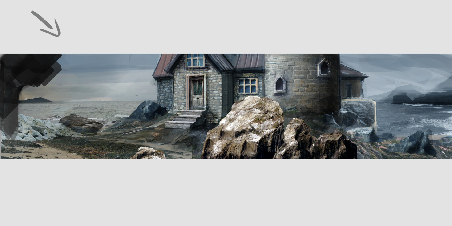 Caroline fangel lighthouse sketch photobashing6