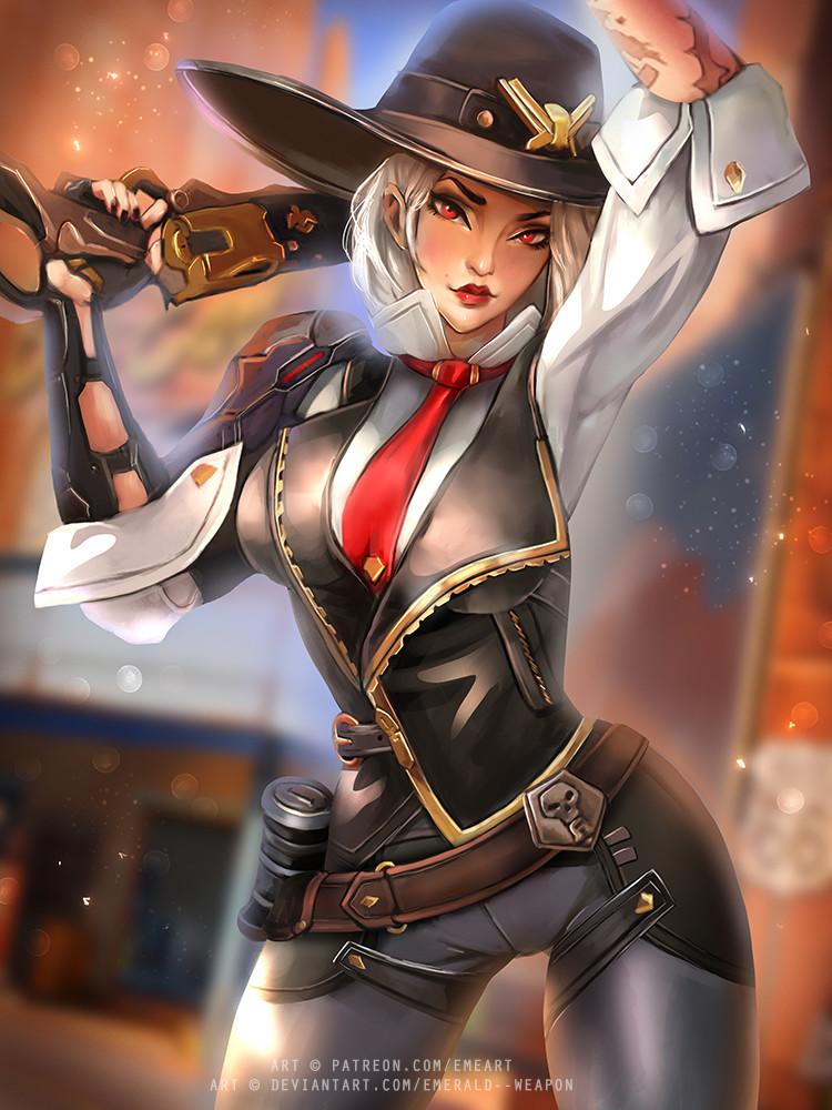 Artstation - Ashe Overwatch, Emerald Weapon-5589