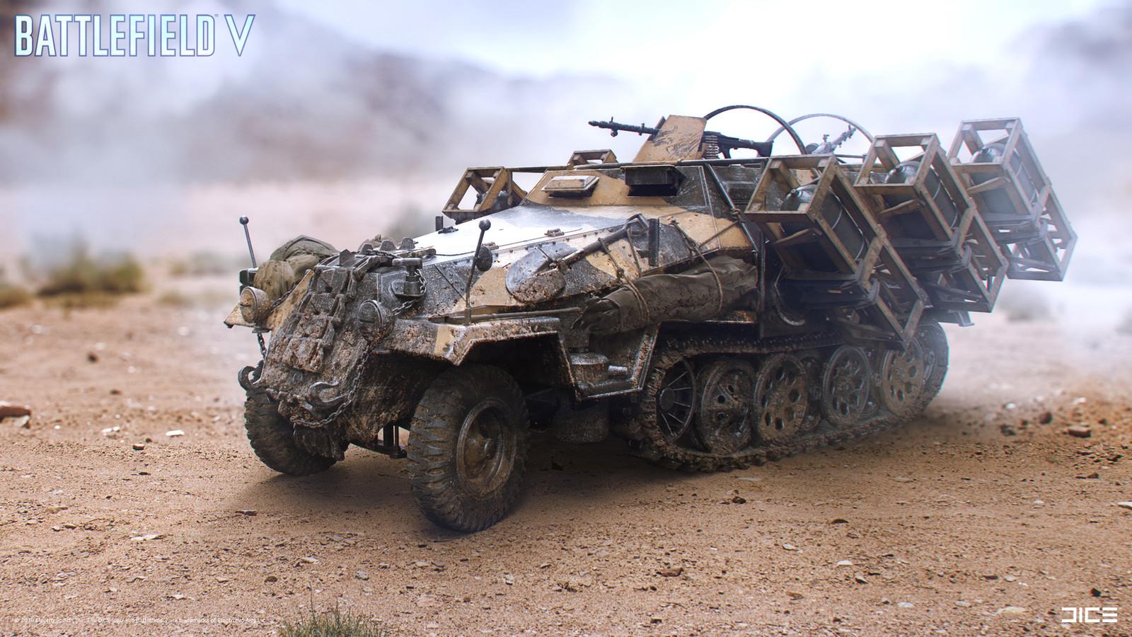 """Battlefield V"" - Hanomag - Vehicle concept art"