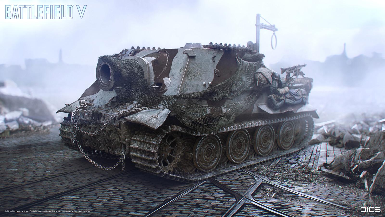 """Battlefield V"" - Sturmtiger - Vehicle concept art. Collaboration with Johannes Palmblad."