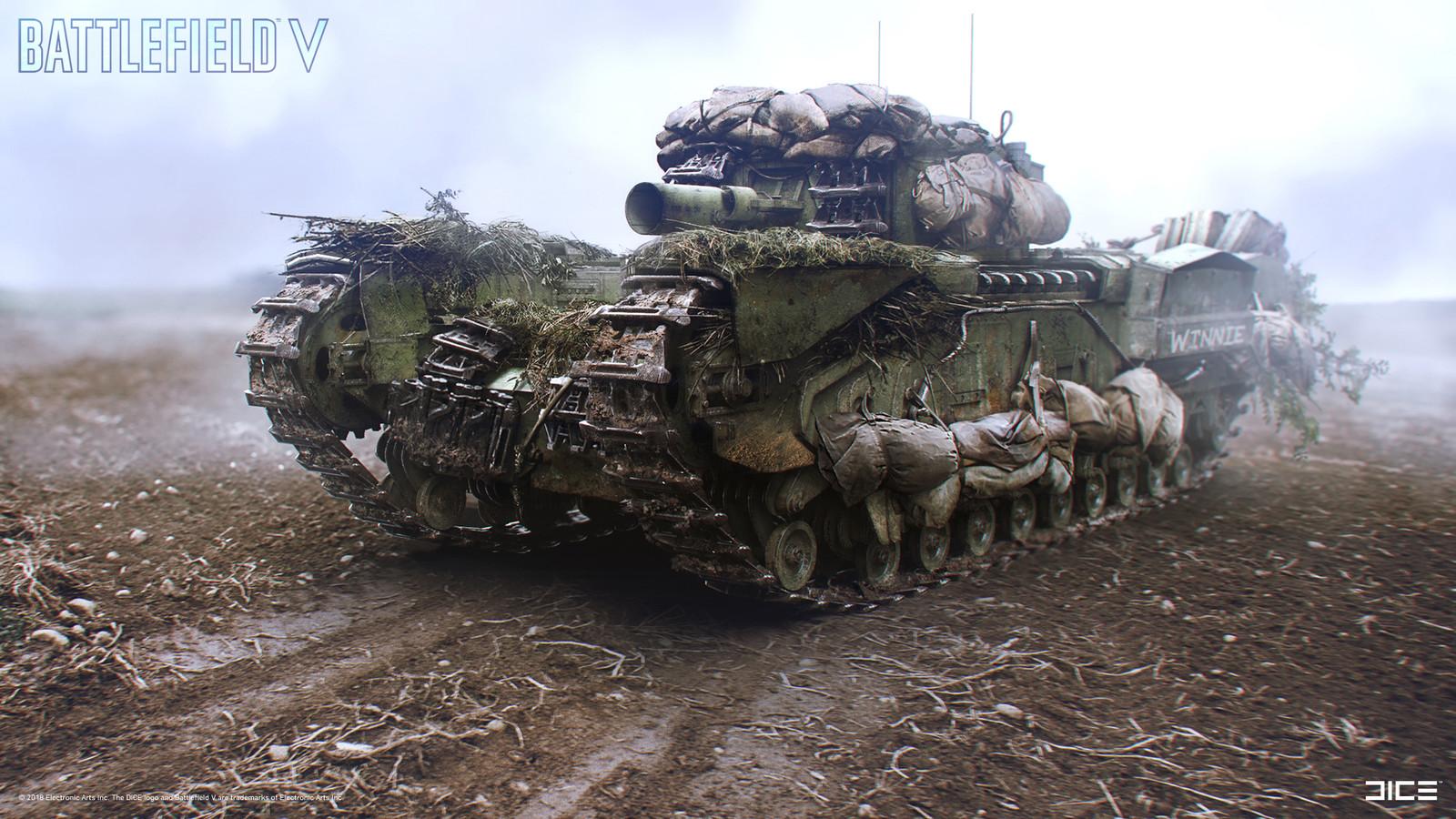 """Battlefield V"" - Churchill - Vehicle concept art. Collaboration with Debbie Tsoi."