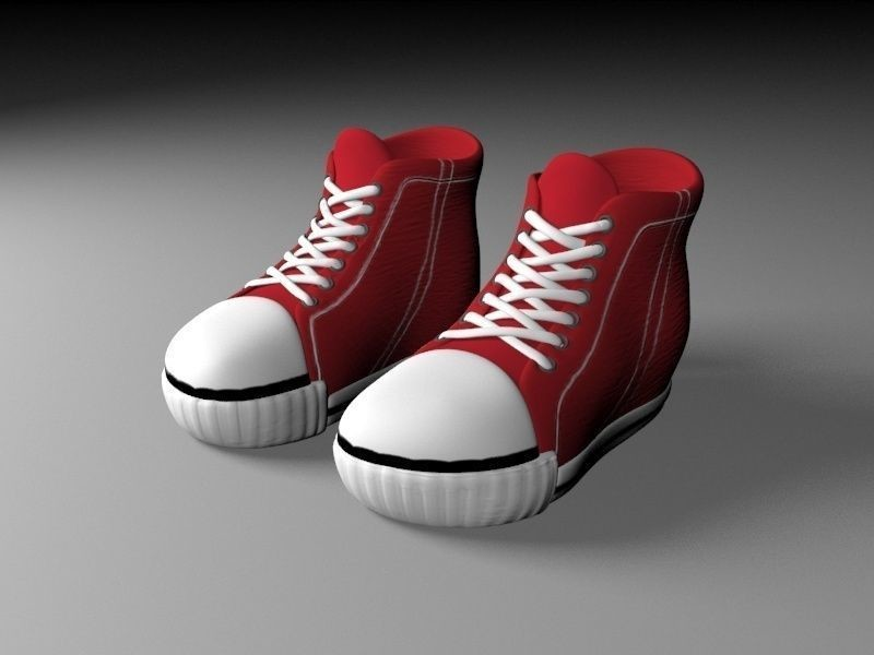 Peta cabi cartoon red shoes 3d model low poly max obj mtl fbx unitypackage  prefab 2 168246fc2