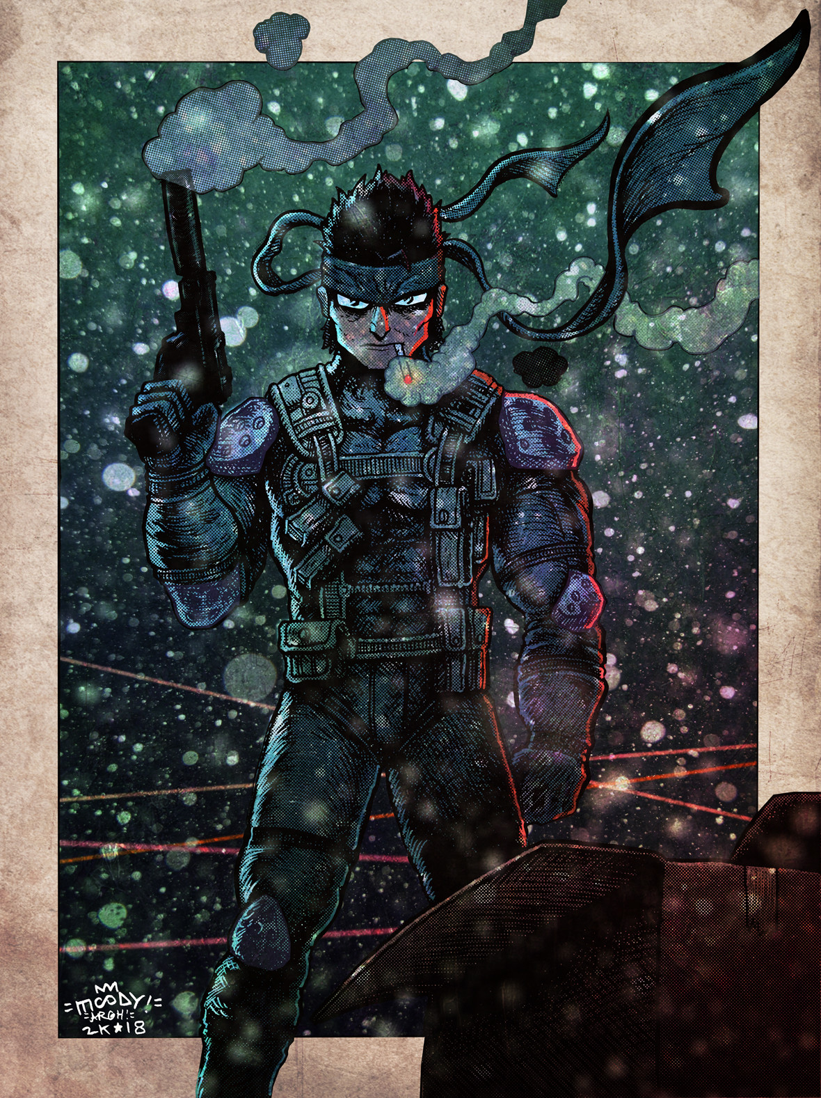 Buster moody mgs1 solid snake colors