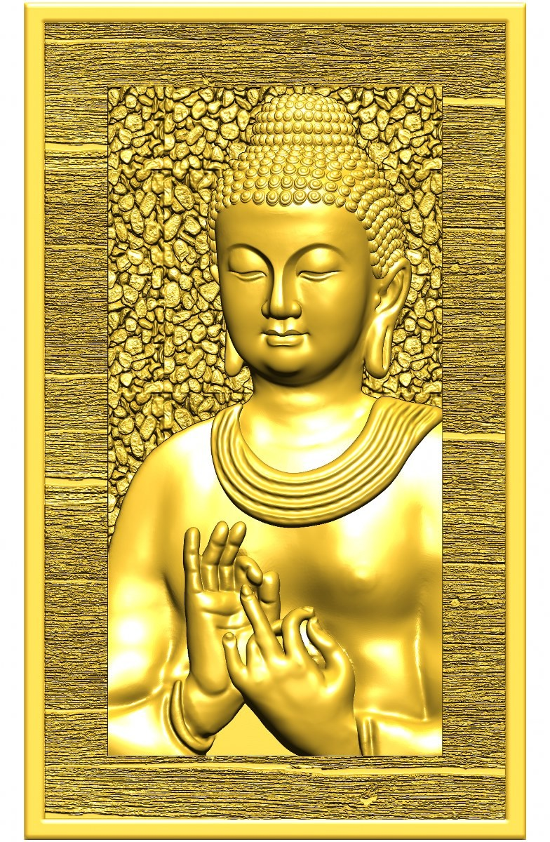 this is a 3d (2.5d) design  now i give some reference images post here    buddha design image 2 this is golden  shadow image  made by : Keshwa Art...& group