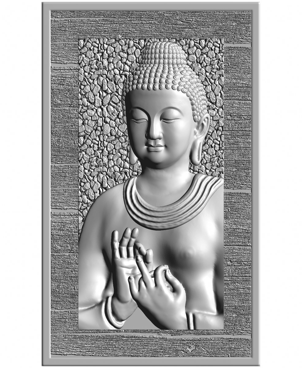 this is a 3d (2.5d) design  now i give some reference images post here    buddha design image 5 this is white shadow image  made by : Keshwa Art...& group