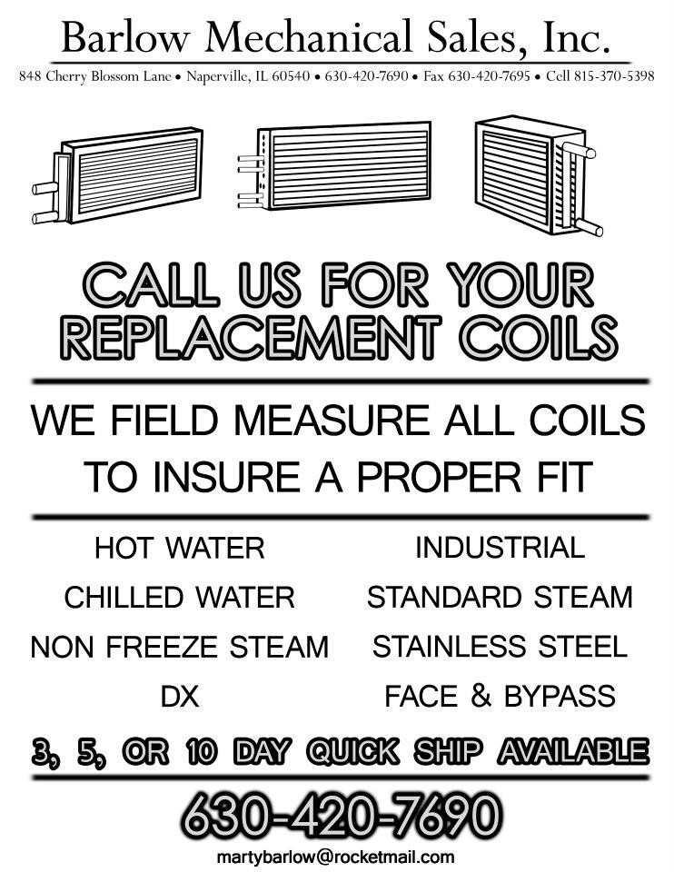 Black and White Flyer for Barlow Mechanical Sales Inc.