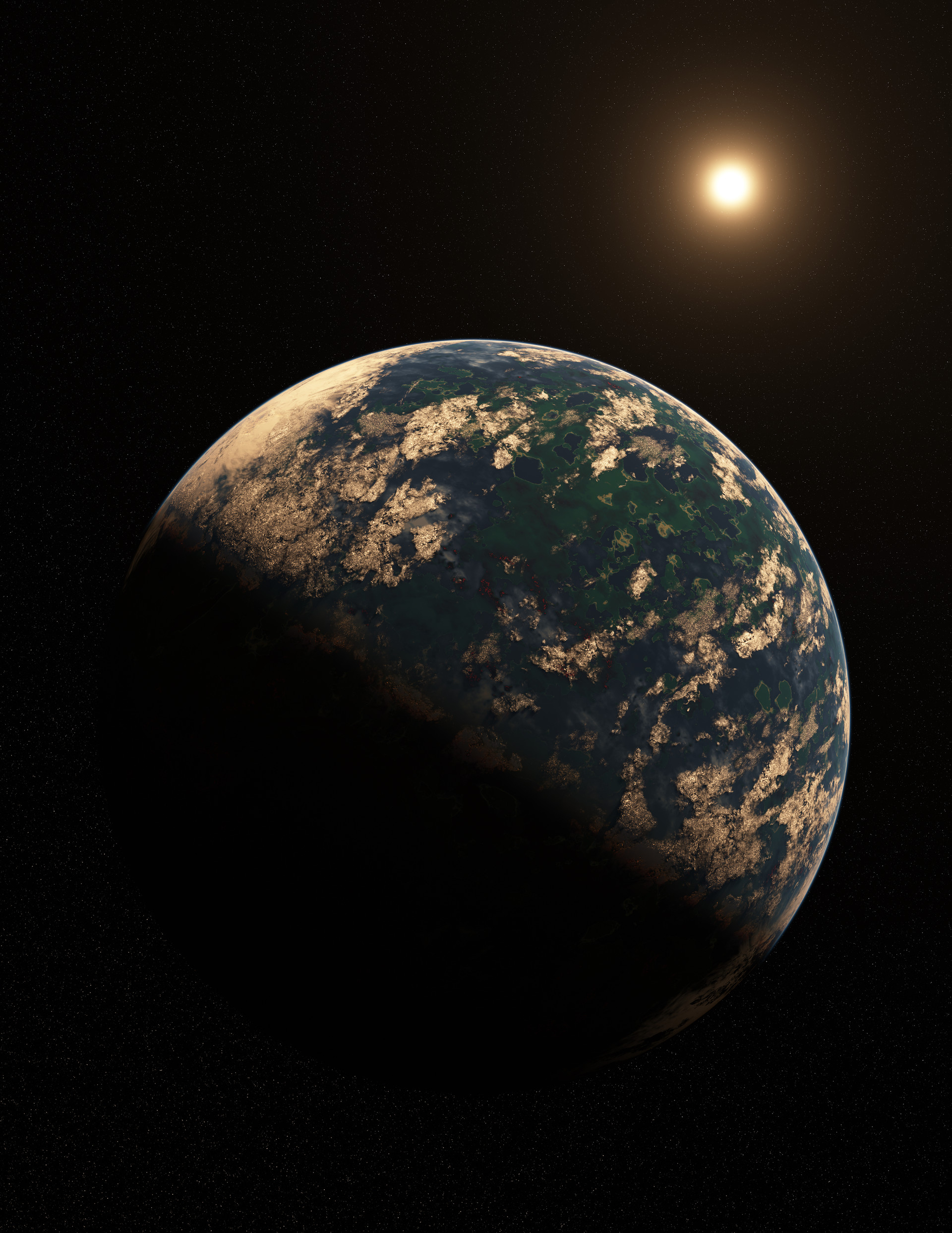 Kepler 186f - One of the more likely places life may exist outside our solar system. Learn more - https://en.wikipedia.org/wiki/Kepler-186f