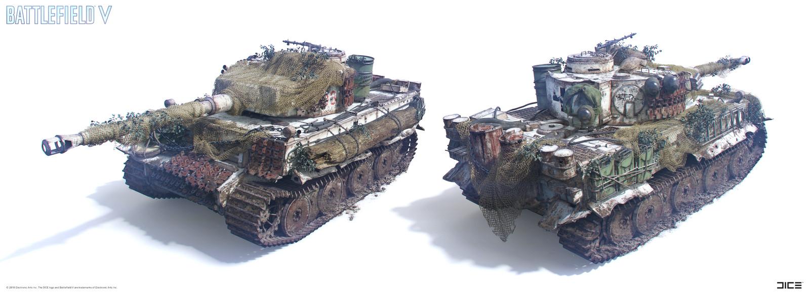 """Battlefield V"" - The Last Tiger - Final Vehicle concept art"