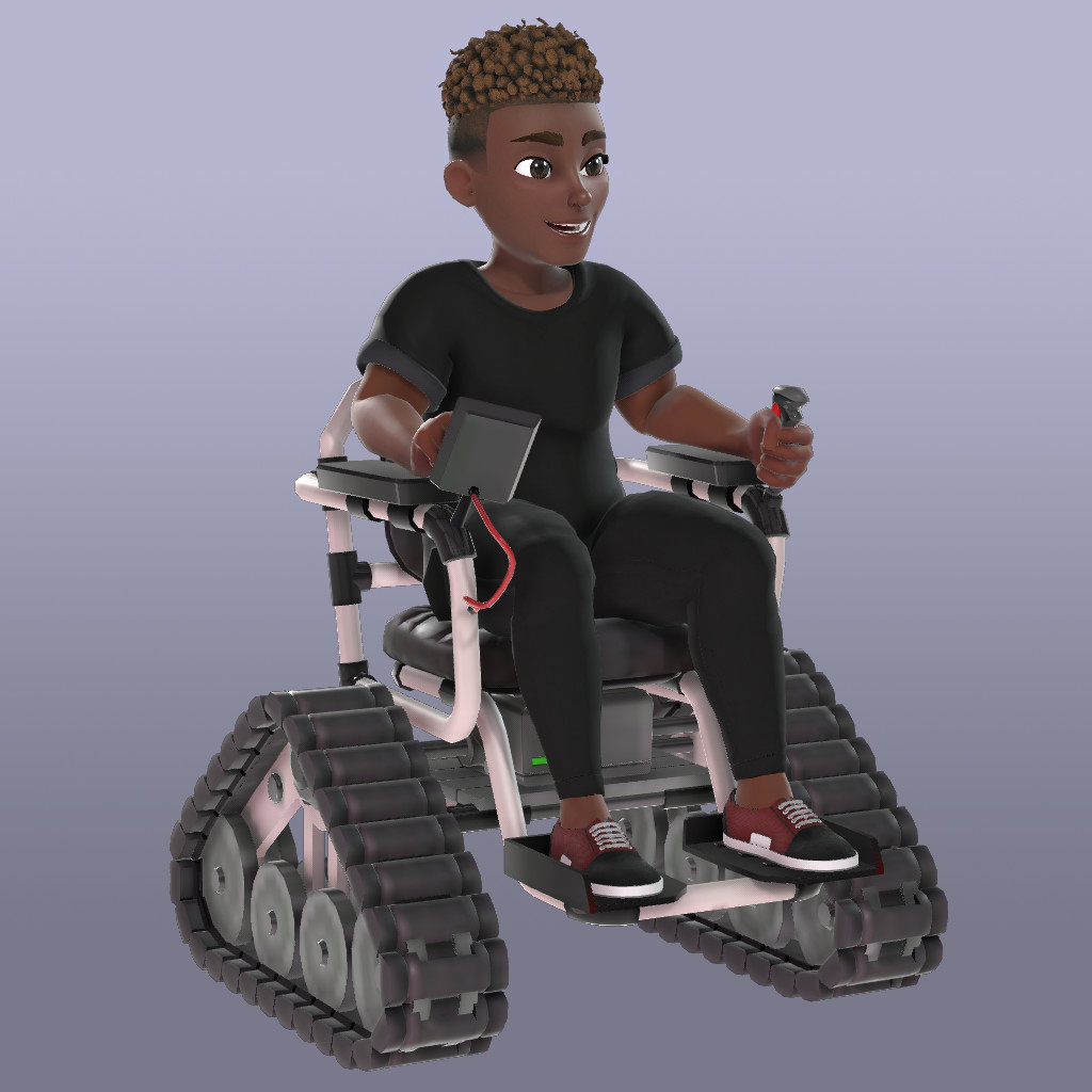 Modified material for Tracked Wheelchair