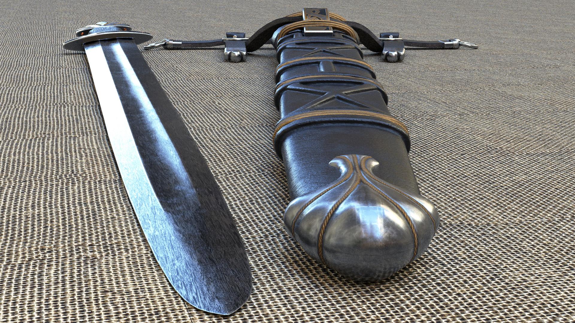 ArtStation - Alec Steele Viking Sword With Scabbard, Ben Cooney