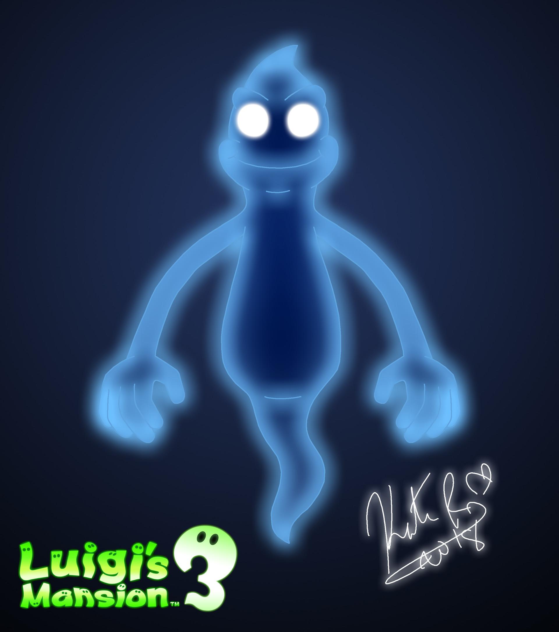 Artstation Luigi S Mansion 3 Blue Ghost Blooie Concept