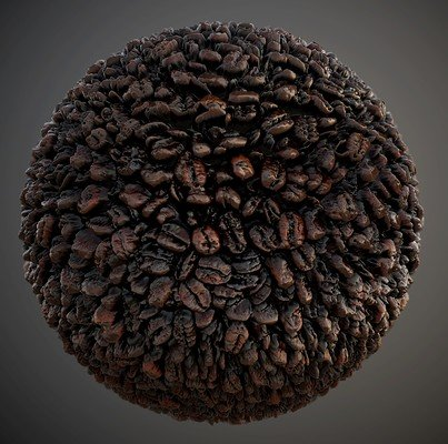 Coffee Beans Seamless PBR Texture