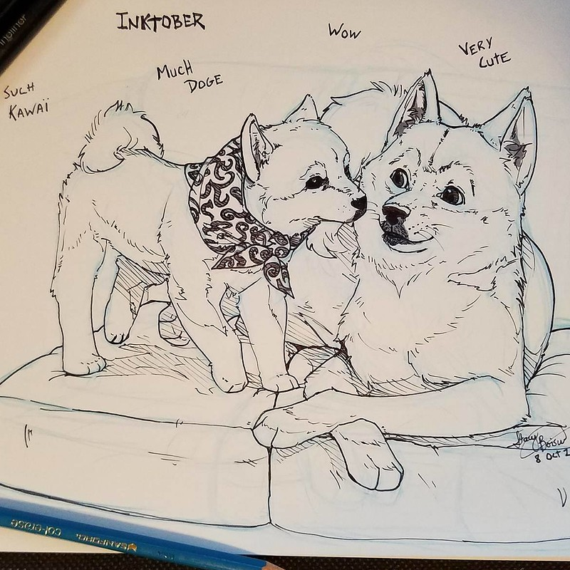 Doge Fan Art - Inktober