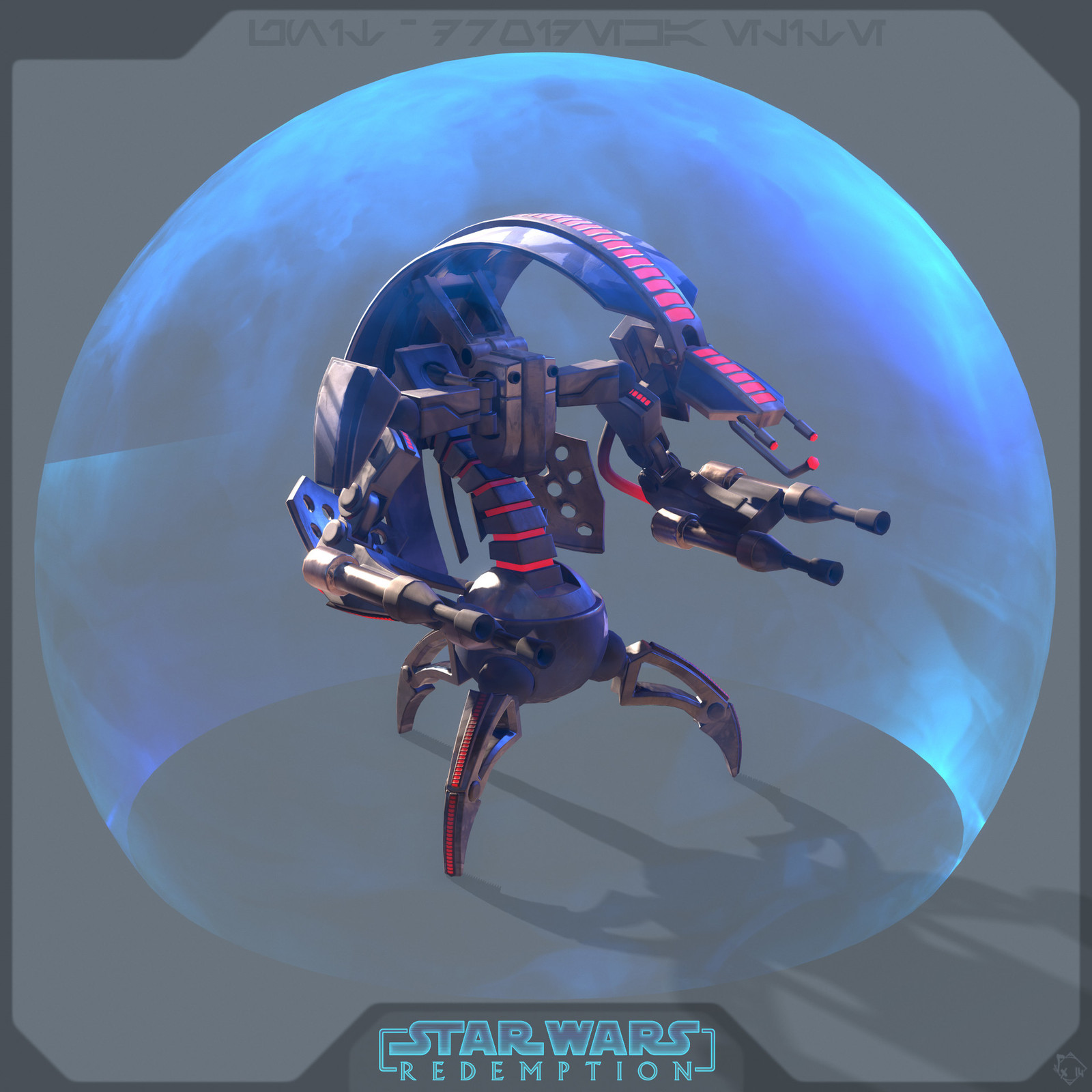 Droideka - Elite's Skin - ( this one is an idea of a more badass droideka, one you may fear even more than classical one =O )