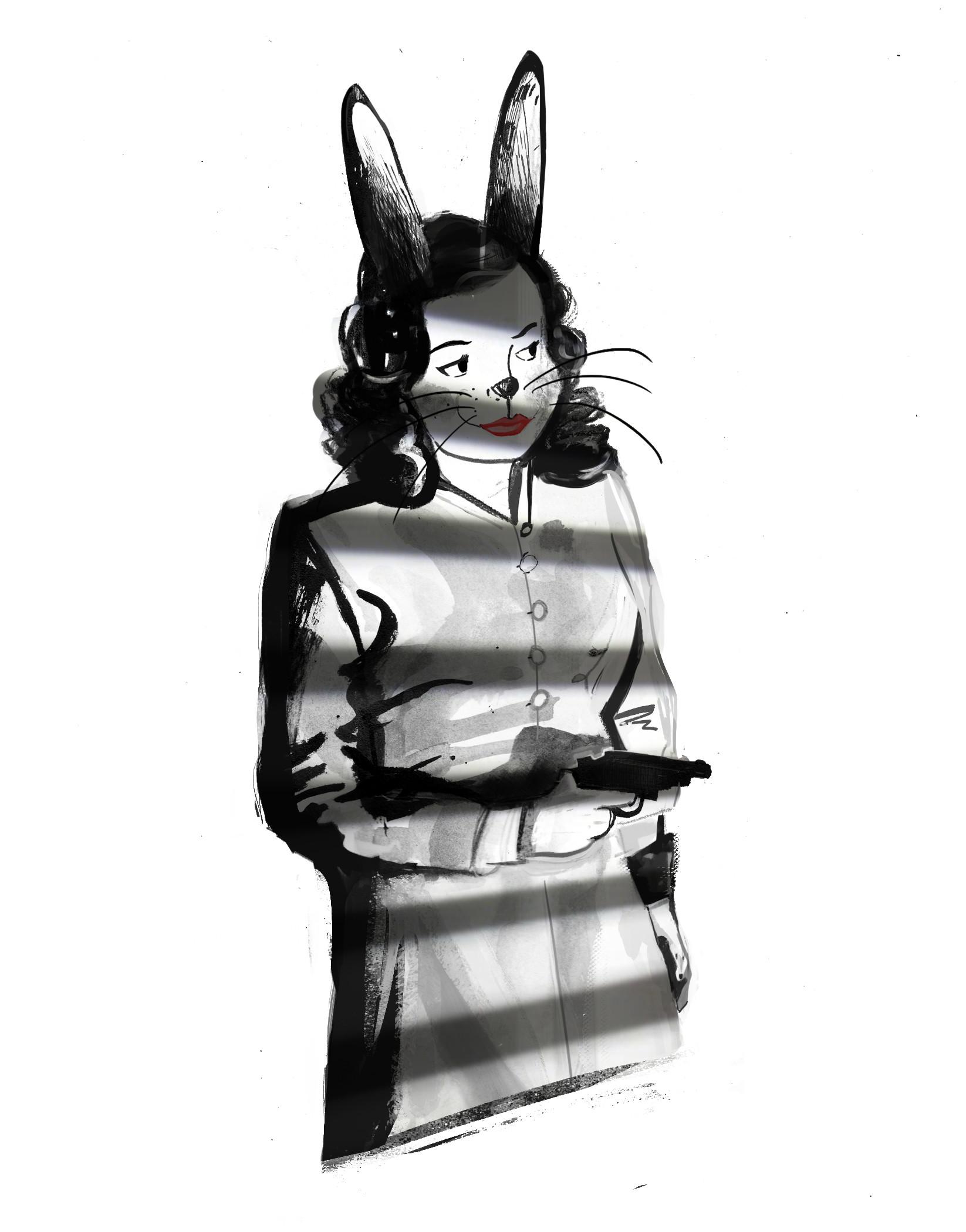 Andy bruyninckx bunny noir