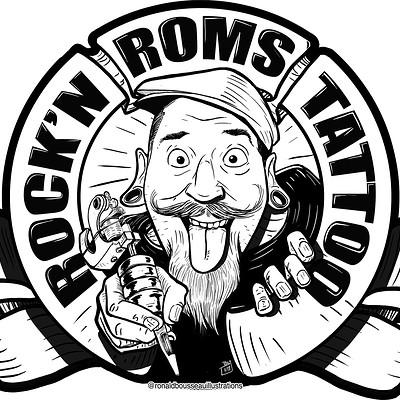 Ronald bousseau enseigne roms fond blanc