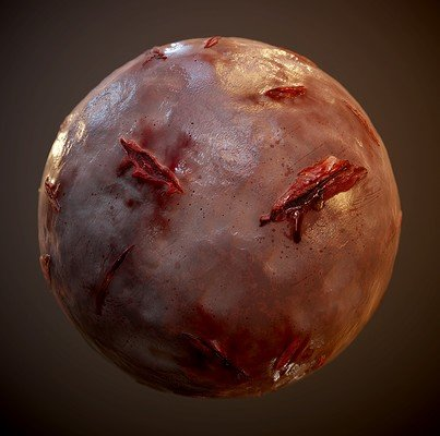 Skin Flesh Cut Bloody Seamless PBR Texture