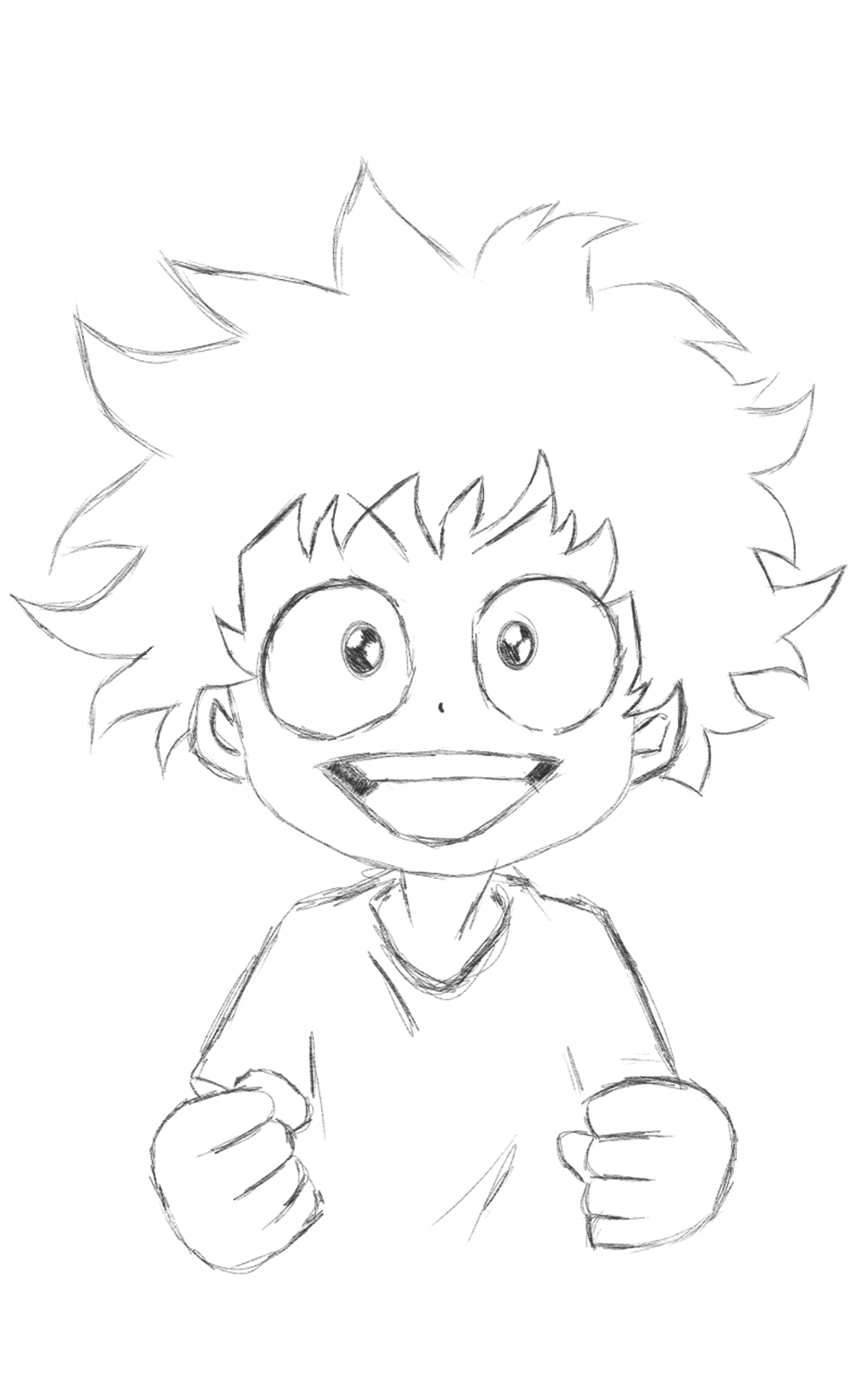 Deku Sketch Deku My Hero Academia Drawing ~ Drawing Easy