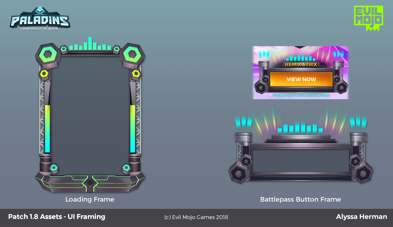 Loading Frame and Button Frame