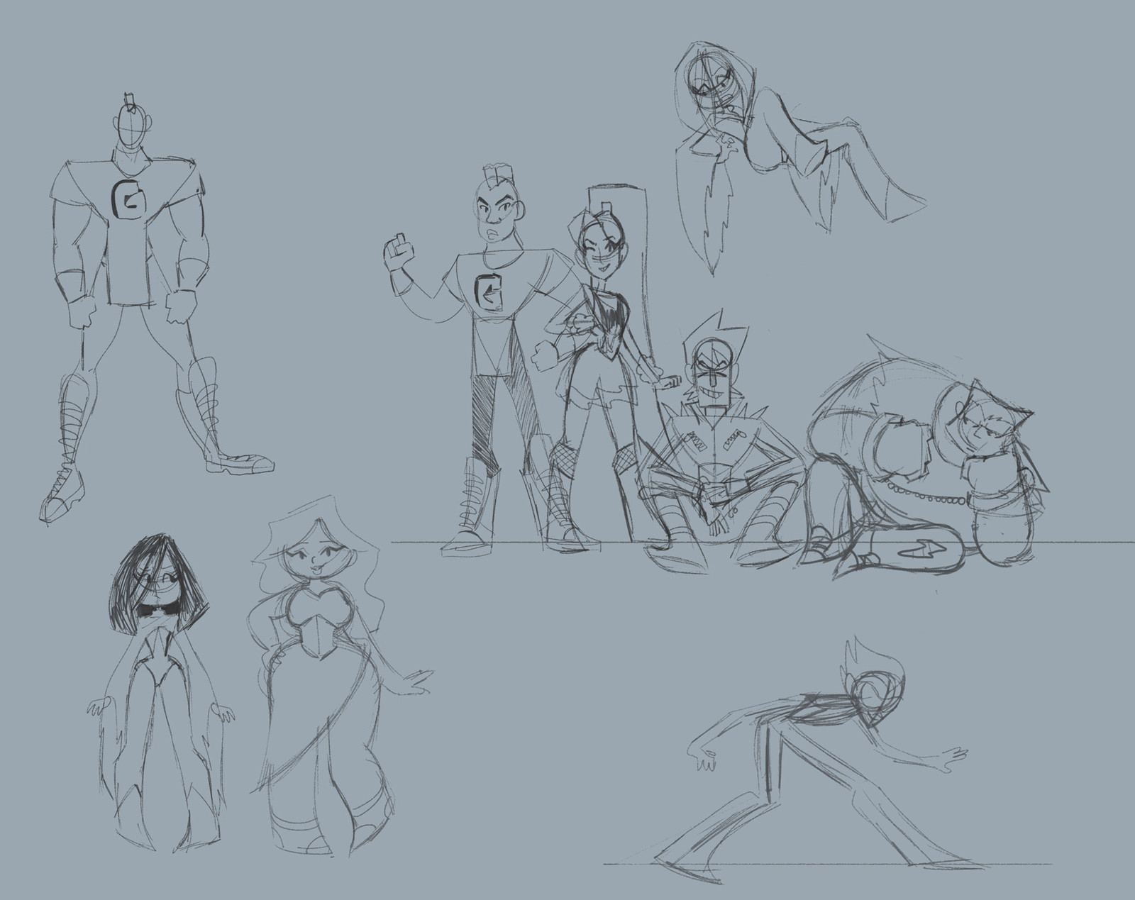 Sketch phase of the group.