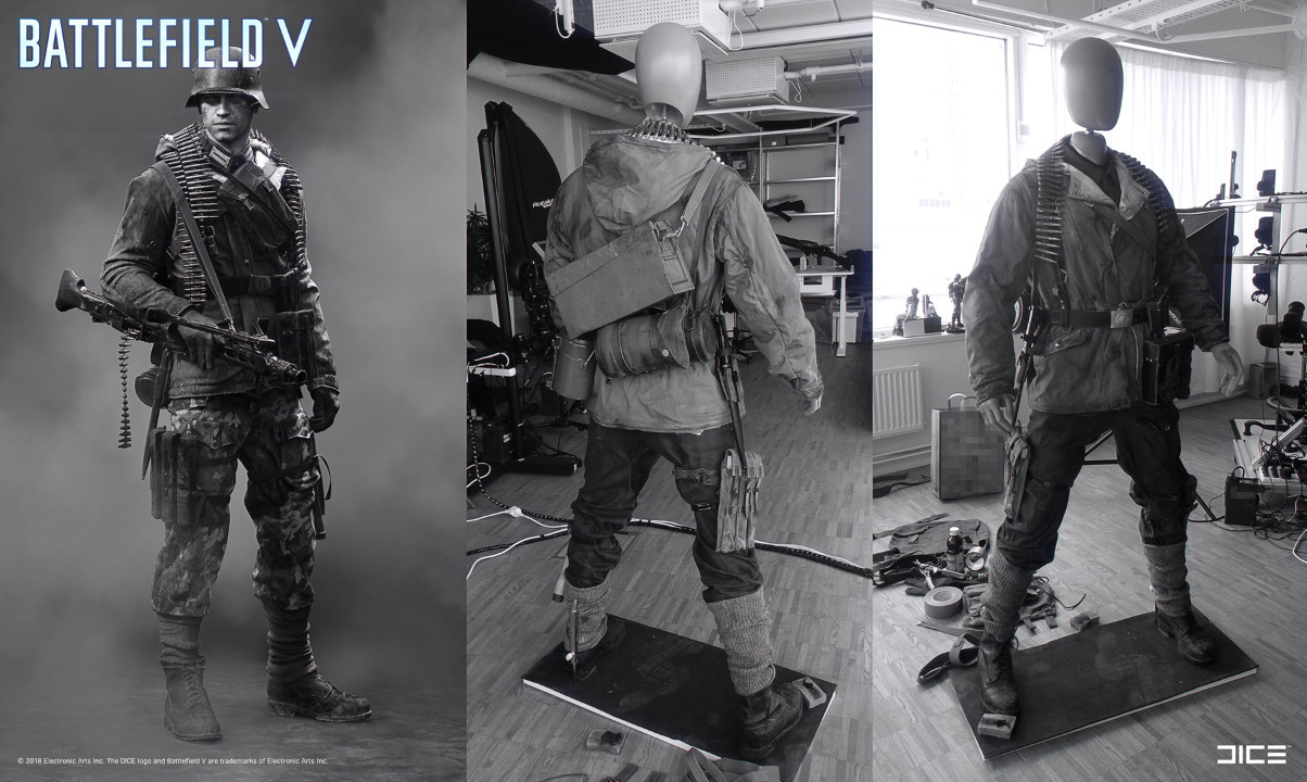 """Battlefield V"" - Axis Support, MP Soldier - From Concept Art to Real Costume example"