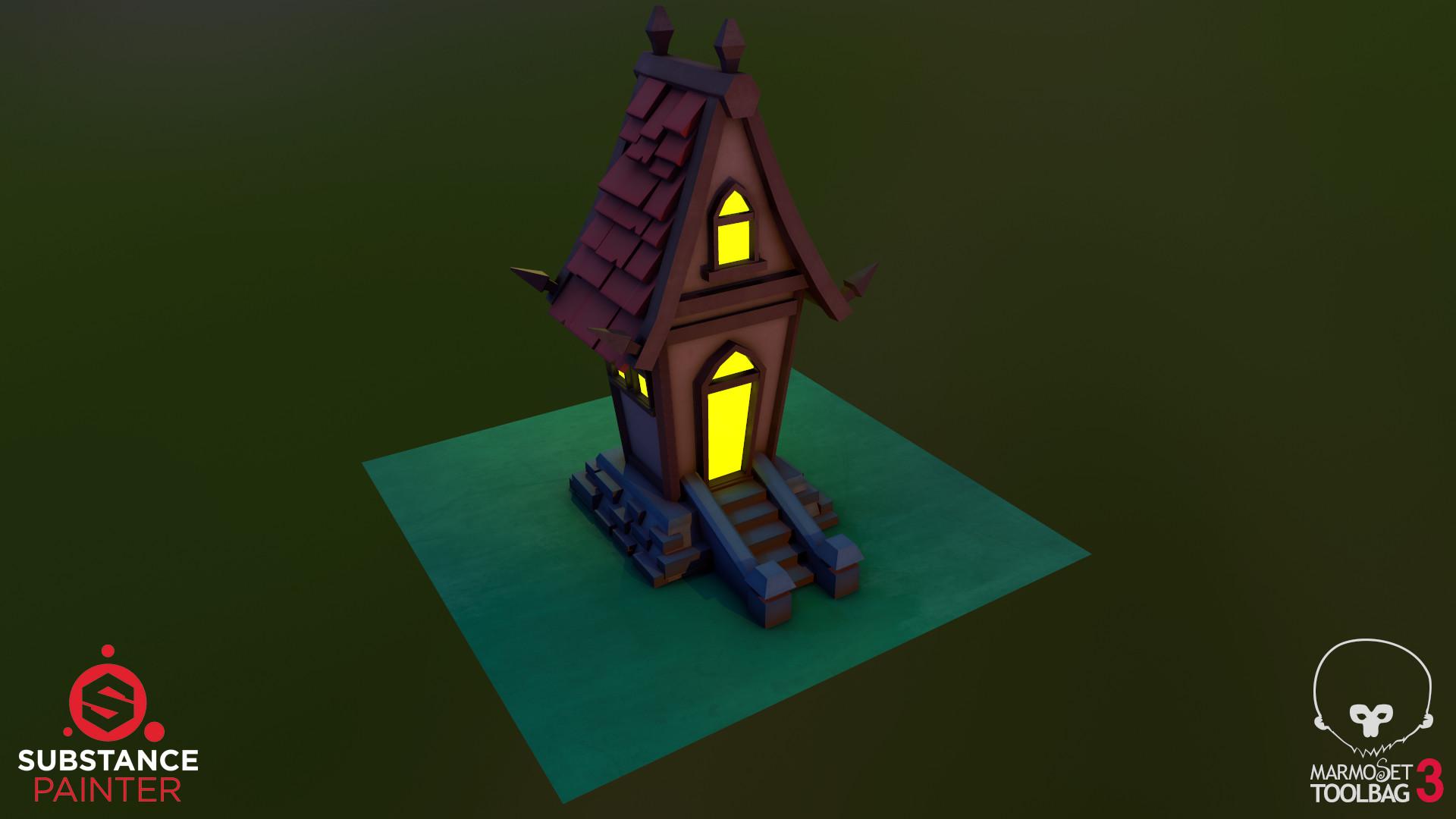 Alex Galagan Stylized Small House