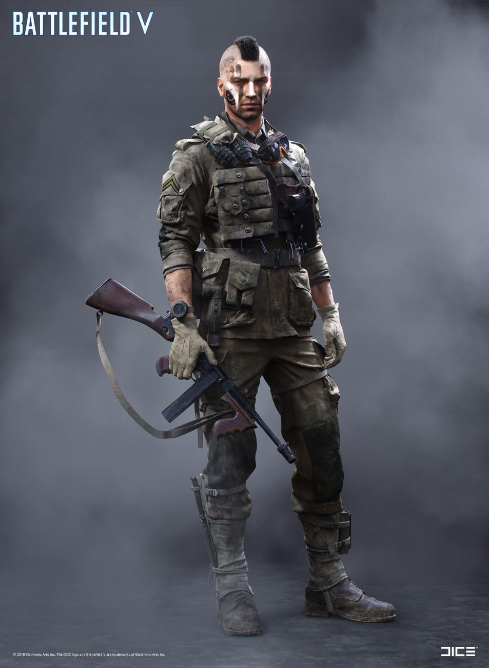 """""""Battlefield V"""" - Allied Assault, MP Soldier - Concept Art"""
