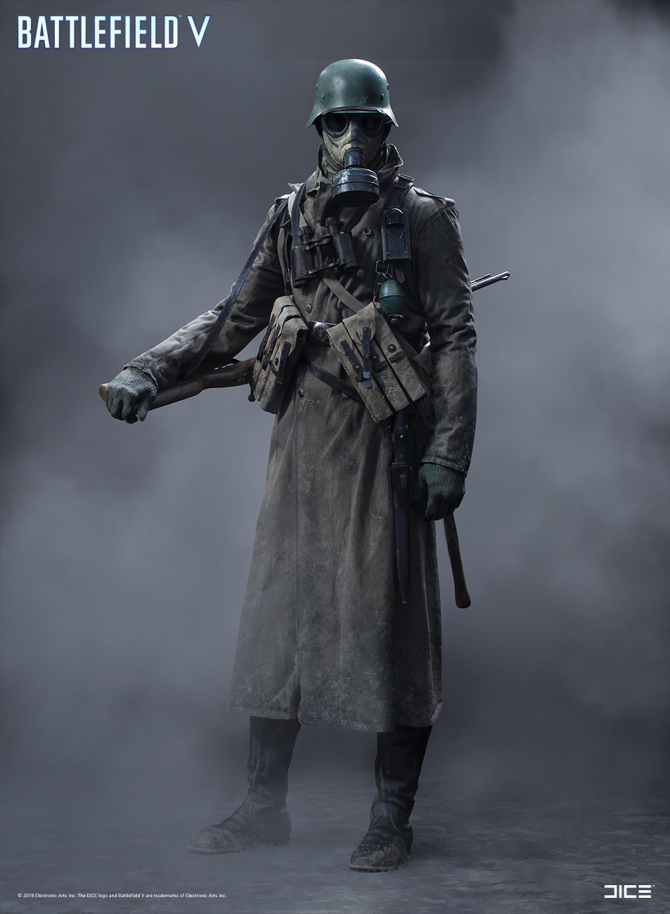 """Battlefield V"" - Axis Scout, MP Soldier - Concept Art"