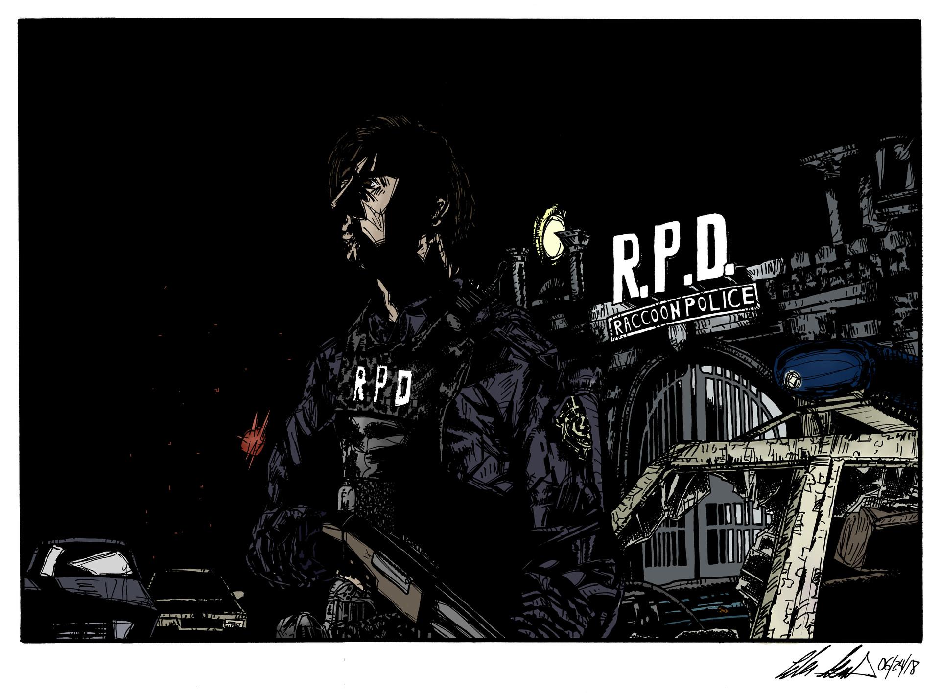 Artstation Resident Evil 2 Remake Fan Art 2 Tyler Gould