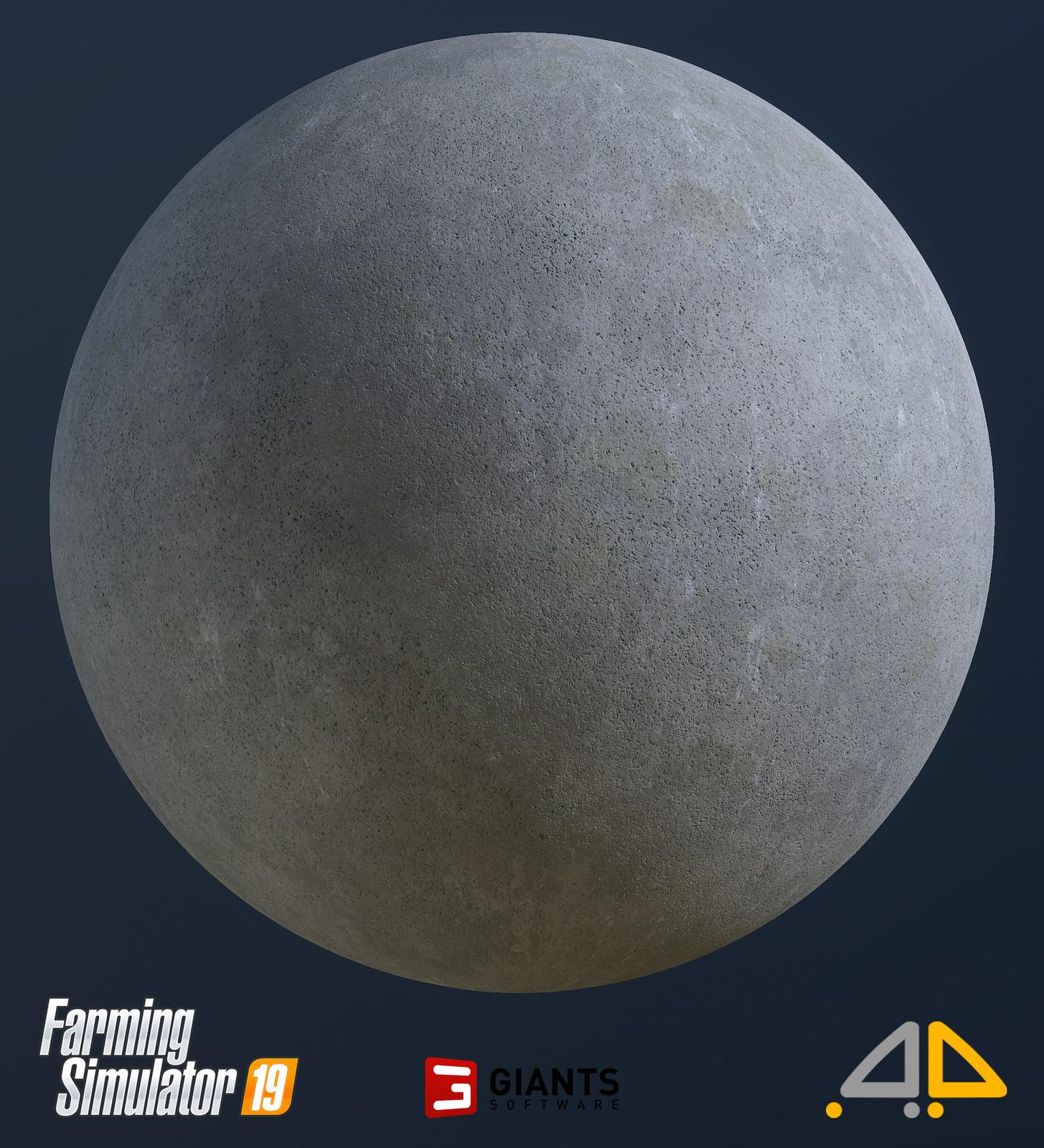 Porous concrete.