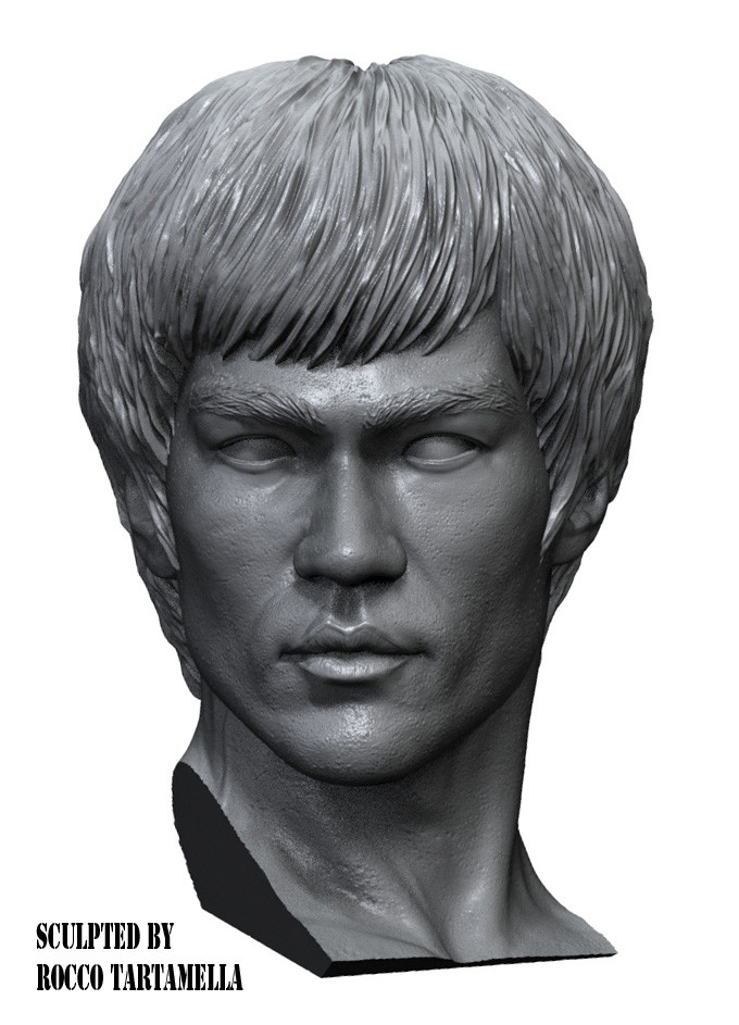 Artstation Bruce Lee Gallery For Dst Sculpted By Rocco Tartamella