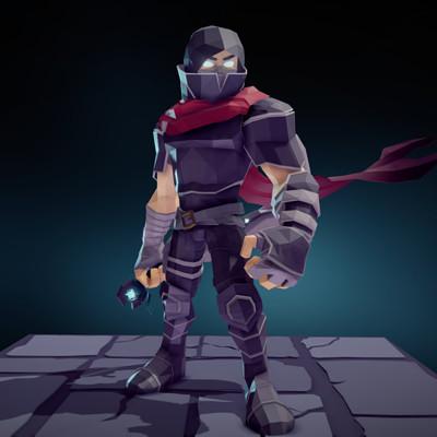 Fabian orrego modular male warrior light armor