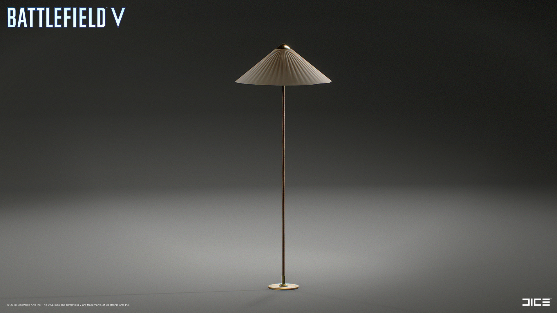 Modeled and textured Lamp