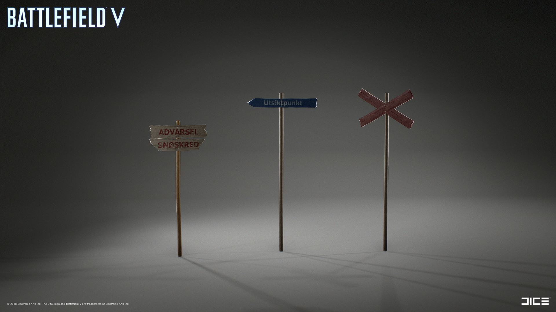 Model and textured signs for Fjell 625