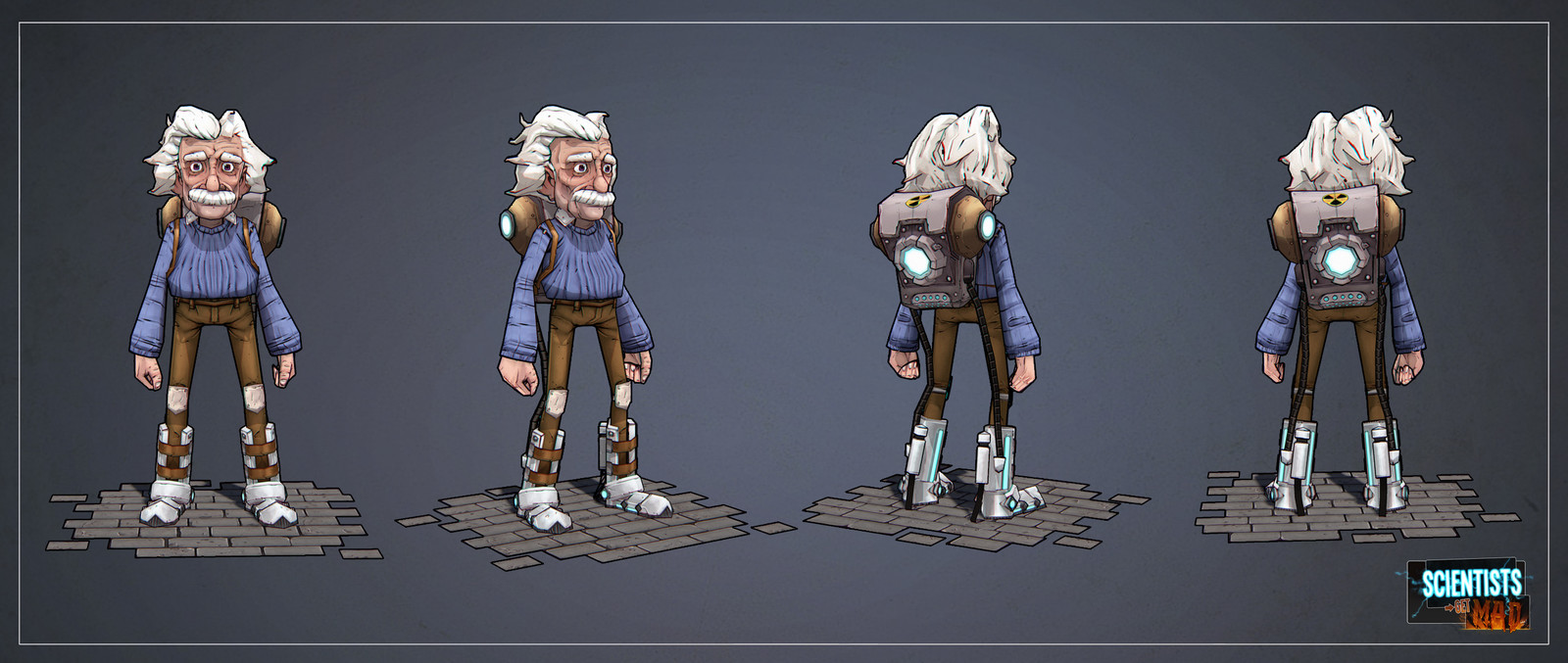 Einstein in game model (3d by Mario Ho-wen-ying, texture by me)