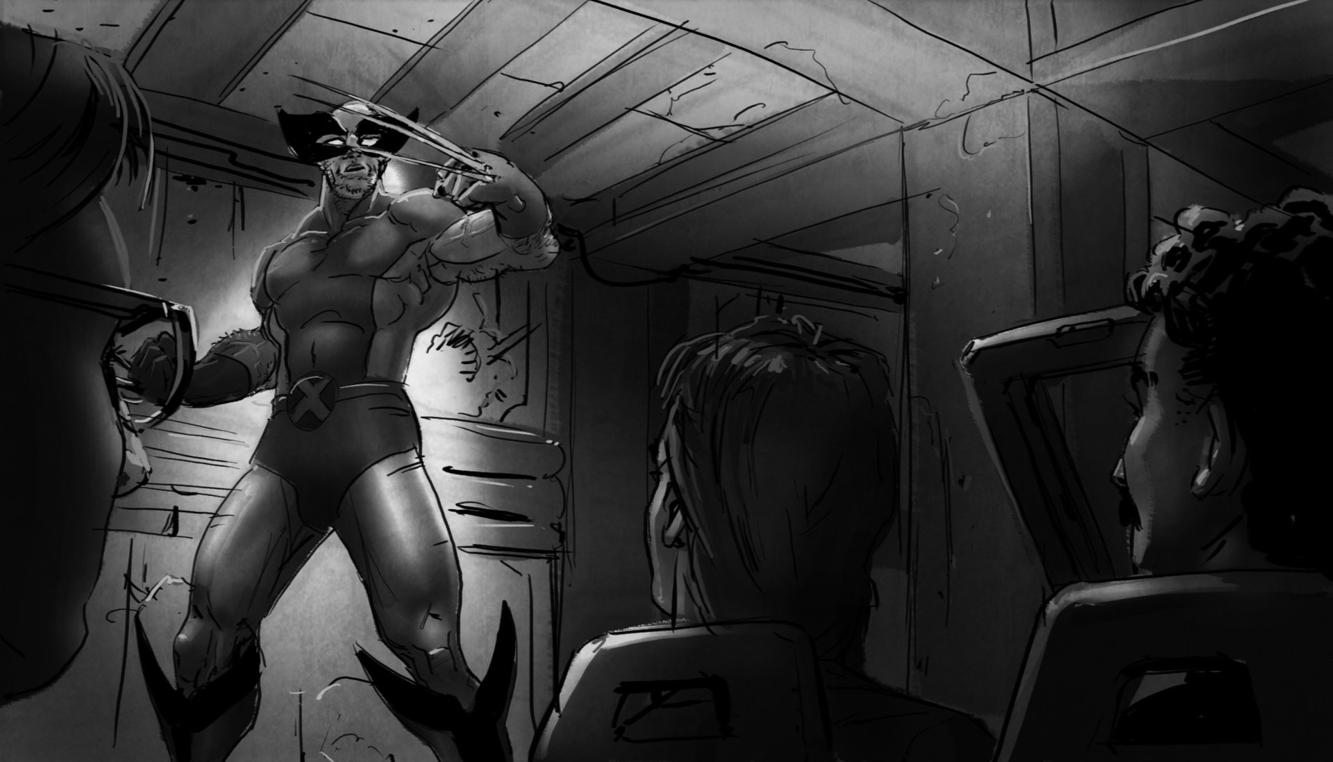 -- Wolverine, fresh from knocking 'ol bullet-head out of our path. But as we steer our way out--