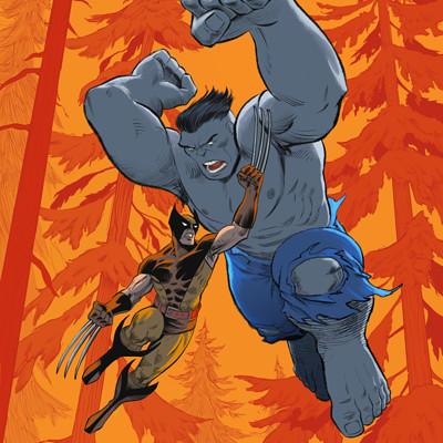 Anthony rivero epicencounters wolverine vs hulk red