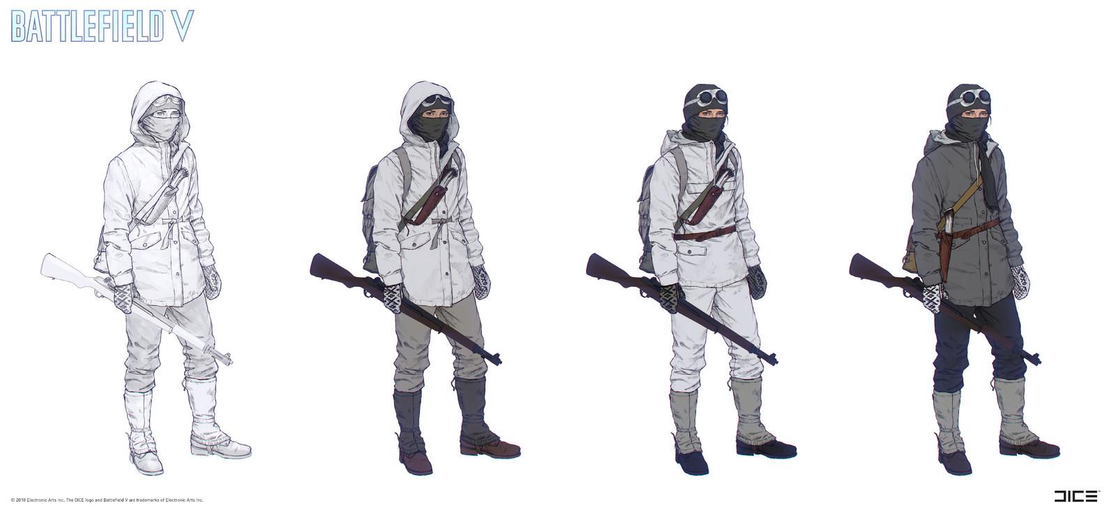 """Battlefield V"" - Nordlys, Solveig - Character concept art"