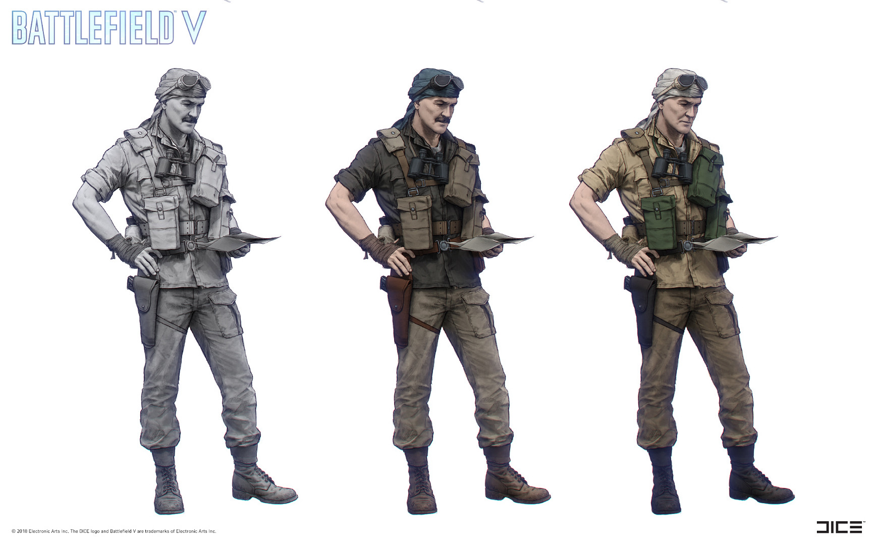 """Battlefield V"" - Under No Flag, Mason - Character concept art"