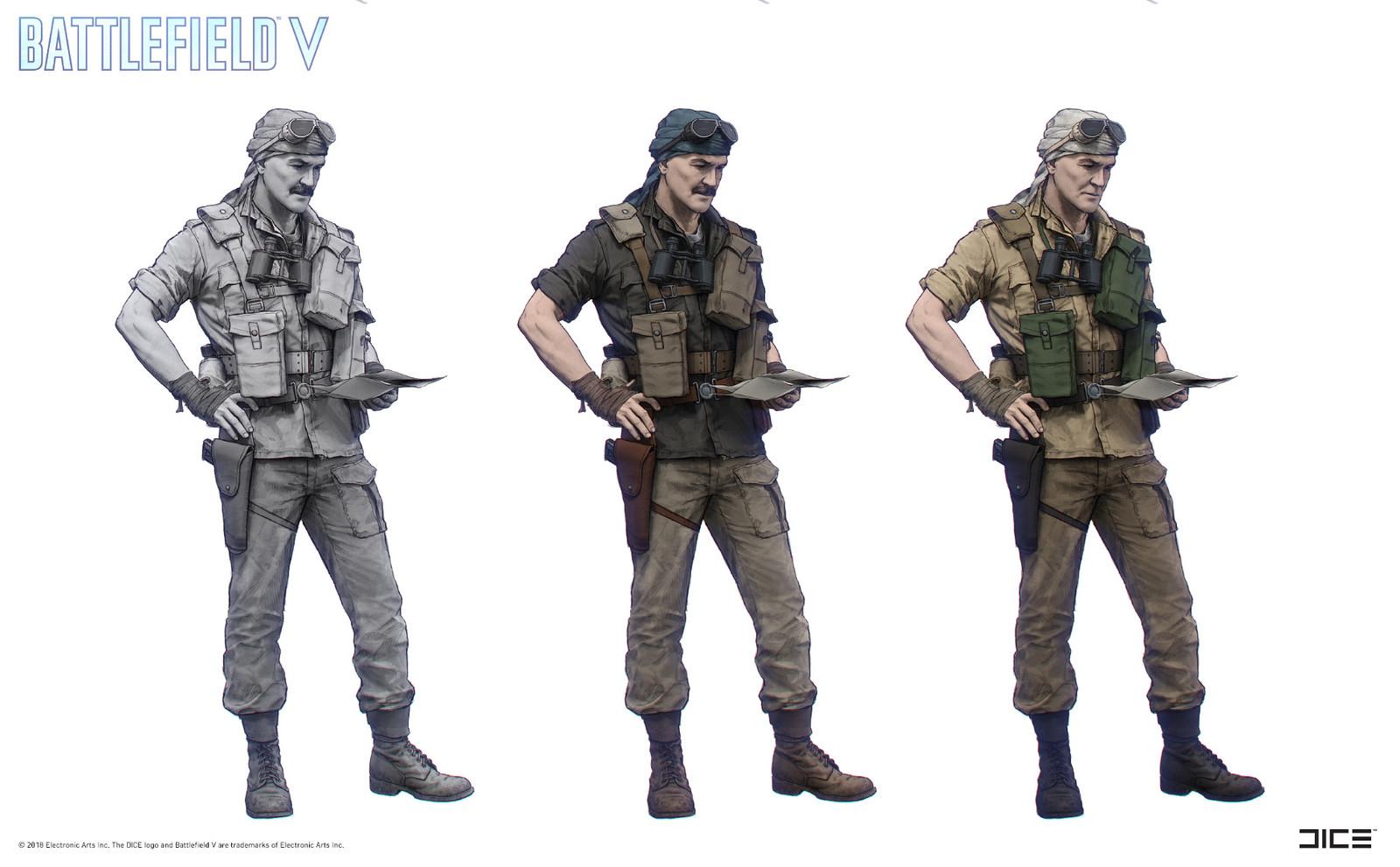 """Battlefield V"" - Under No Flag, Mason - Character concept art"