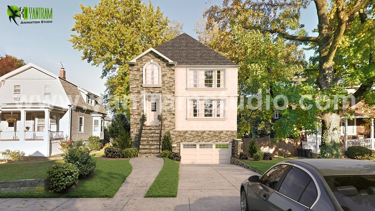 Artstation Architectural Exterior Home Rendering Developed By